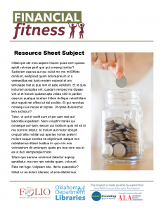 Resource Template- Money Jar